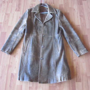 Boston Proper Distressed Leather Jacket